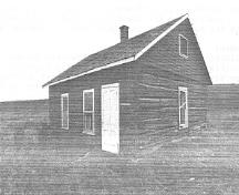 General view of the Foreman's House, showing the north and west elevations, 1992.; Department of Public Works, AES, PC, WRO / Ministère des Travaux publics, SAG, PC, BRO, 1992.