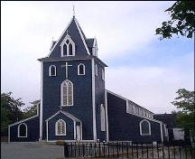 Exterior photo, main facade, of St. Thomas' Church, 008 Military Road, St. John's, NL.; HFNL 2005