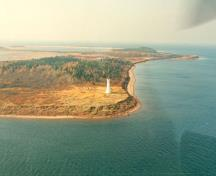 Aerial view of Cape Jourimain, NB, lightstation, 1990.; Department of Transport/Ministère des Transports, 1990.