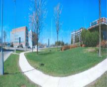 Panoramic view showing Sir Leonard Tilley Building on the left side, 2002.; Agence Parcs Canada / Parks Canada Agency, G. Charrois, 2002.