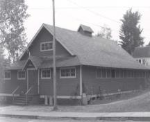 Front and side view of the building, 1984; S. Siepman, Parks-PNRO, 1989