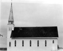 General view of the Saint-Antoine de Padoue Church, showing the east elevation; Canadian Parks Services / Service canadien des parcs, 1982