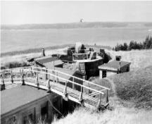 View of the Gun Emplacement,  Magazine, and Crew Shelter 1, c. 1946.; Department of National Defence / Ministère de la Défense nationale.