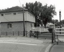 General view of the Merrickville Blockhouse, 1989.; Agence Parcs Canada/ Parks Canada Agency (ORO), Couture, 1989.