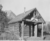 Wardens Cabin Recognized Federal Heritage Building; National Archives of Canada, PA182465 (1955).