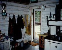 Interior view of Hoodoo Warden Cabin, 1997.; Parks Canada Agency / Agence Parcs Canada, 1997.
