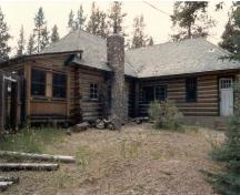 Maligne Lake Chalet; rear elevation.; (Photo courtesy of Merna Forster, Jasper National Park.)