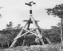 Historic image of the First Geodetic Survey Station.; Natural Resources Canada \ Ressources naturelles Canada, n.d.
