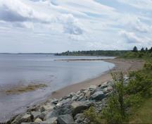 General view of the western shoreline of the LaHave River near the location of Fort Sainte Marie de Grace National Historic Site, 2010.; Parks Canada Agency/Agence Parcs Canada, 2010.