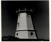General view of the Tower at Louisbourg, 1990.; Canadian Coast Guard / Garde côtière canadienne, 1990.