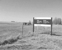 View of the entrance to Battle of Tourond's Coulee / Fish Creek National Historic Site of Canada.; Parks Canada/Parcs Canada 2007.