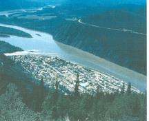 Townsite de Dawson du Dôme, regardant au sud-ouest, 1993.; Public Works and Government Services Canada/Travaux publics et Services gouvernementaux Canada, Guy Masson, 1993.