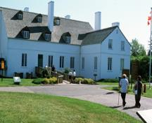 View of 'la grande maison' at Forges du Saint-Maurice National Historic Site of Canada, 2002.; Parks Canada Agency / Agence Parcs Canada, E. Kedl, 2002.