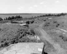 General view of the Harbour Channel from Fort McNab, 1996.; Agence Parcs Canada / Parks Canada Agency, 1996.