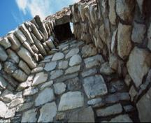 View of remains at Fort St. Joseph, showing its form and materials, 2001.; Parks Canada Agency / Agence Parcs Canada, G. Vandervlugt, 2001.