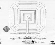 Fort Drummond site plan, 1823.; Library and Archives Canada/Bibliothèque et Archives Canada, H3/450, NMC 5175, 1823.