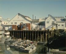 General view of the Gulf of Georgia Cannery National Historic Site, 1991.; Parks Canada Agency / Agence Parcs Canada, 1991.