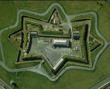 Aerial view of Halifax Citadel National Historic Site of Canada.; Parks Canada Agency / Agence Parcs Canada