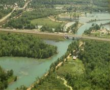 Aerial photo of the Trent-Severn Waterway, 1993.; Parks Canada Agency/Agence Parcs Canada, 1993.