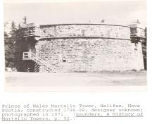 Historic view of Prince of Wales Tower National Historic Site of Canada .; Parks Canada Agency / Agence Parcs Canada