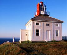 General view of Cape Spear, showing its relatively squat neoclassical proportions, 2002.; Parks Canada Agency/ Agence Parcs Canada, J.F. Bergeron, 2002.