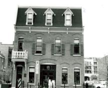 Exterior photo; (Kate MacFarlane, Architectural History Branch - Canadian Parks Service, 1988.)