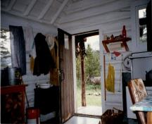 Interior view of the Topaz Warden Patrol Cabin, 1997.; Parks Canada Agency / Agence Parcs Canada, 1997.