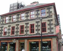 Front elevation showing second and third storeys and roof, Mitchell House, Halifax, Nova Scotia, 2005.; Heritage Division, NS Dept. of Tourism, Culture and Heritage, 2005.