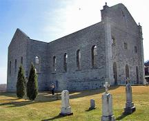General view of the ruins of St. Raphael's Roman Catholic Church showing the integrity of the ruin, namely the surviving layout, elevations, and interior and exterior detailing of the well-crafted cut stone walls, 2010.; D. Gordon E. Robertson, 2010