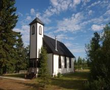 St. Aidan and St. Hilda Anglican Church, near Fallis (July 2002); Alberta Culture and Community Spirit, Historic Resources Management, 2002