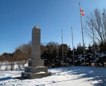 Overall view of the cenotaph; Town of Oromocto
