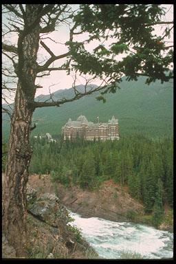 General view of the Banff Springs Hotel
