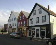 This photograph shows the contextual view of the building; Town of St. Andrews