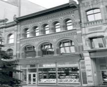 Brouse Building Recognized Federal Heritage Building; (CIHB/INHC, Parks Canada/Parcs Canada, 1985.)