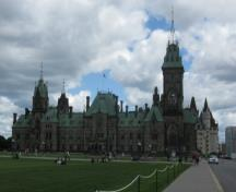View of the façade of East Block, 2010.; Parks Canada Agency/ Agence Parcs Canada, Catherine Beaulieu, 2010.
