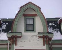 This photograph shows the dormer of the residence, 2009; Town of St. Andrews