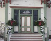 This photograph illustrates the entrance of the residence, 2009; Town of St. Andrews