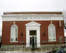 This photograph shows the front façade of the bank, 2009; Town of St. Andrews