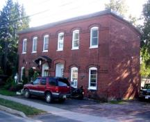 Of late 19th century construction, the house fronts onto the west side of Canada Street.; City of Fredericton