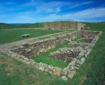 Detail view of Fort Beauséjour - Fort Cumberland, showing the defensive works.; Parks Canada Agency / Agence Parcs Canada.