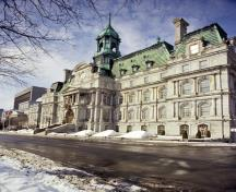 General view of Montréal City Hall showing its fine masonry work, 1994.; Parks Canada Agency / Agence Parcs Canada, P St. Jacques, 1994.