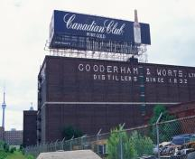 General view of Gooderham and Worts Distillery showing the large scale of the complex.; Parks Canada Agency / Agence Parcs Canada.