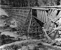 Kinsol Trestle, archival; Cowichan Valley Museum and Archives, 1998.11.11.1