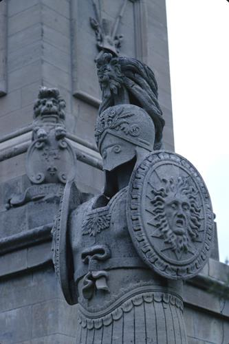 Queenston Heights, detail of Brock's Monument
