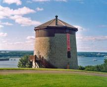 General view of Québec Martello Towers, showing their siting, overlooking the St Lawrence and Charles River, 2003.; Parks Canada Agency / Agence Parcs Canada, 2003.