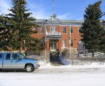 View of the front entryway of the Vibank Convent, 2004.; Government of Saskatchewan, Bruce Dawson, 2004
