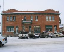 Front exterior view of Rocanville Farmers Building, 2003; Government of Saskatchewan, J. Kasperski, 2003.