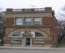 Front Elevation of Royal Bank Building in Qu'Appelle, 2003.; Government of Saskatchewan, Bruce Dawson, 2004