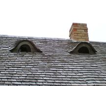 Roof detail of Paulencu House, Inglis area, 2006; Historic Resources Branch, Manitoba Culture, Heritage & Tourism, 2006