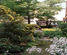 General view of the perennial garden at the Henry-Stuart House.; MHS 98-506-006